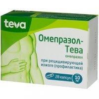 Омепразол-Тева капс. кишечнораств. 10мг №28