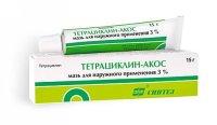 Тетрациклин-АКОС туба(мазь д/наружн. прим.) 30000ЕД/г 15г
