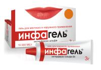 Инфагель туба(гель д/местн. и наружн. прим.) 10 тыс.МЕ/г 3г №1