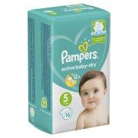 Подгузники PAMPERS Active baby Dry Junior разм. 5 (11-18кг) №16