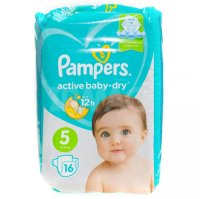 Подгузники PAMPERS Active baby Dry Junior (11-16кг) №16