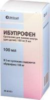 Ибупрофен фл.(сусп. д/приема внутрь д/детей) 100мг/5мл 100мл №1 (корич. стекло)+мерная ложка