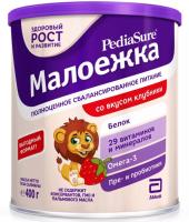 ПедиаШур Малоежка спец. продукт с пищевыми волокнами Клубника 400мл