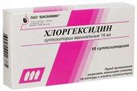 Хлоргексидин супп. ваг. 16мг №10 уп.конт.яч. - пач.карт.