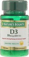 Нэйчес Баунти (Natures Bounty) Витамин D3 таб. 250мг №100