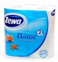 Бумага туалетная ZEWA Plus 2-слойн. №4 (бел.)