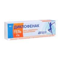 Диклофенак туба(гель д/наружн. прим.) 1% 30г №1