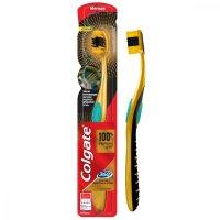 Зубная щетка COLGATE 360 золотая с древесным углем мяг.