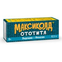 Максиколд Ототита фл.-кап. (капли ушные) 1%+4% 15мл