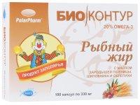 """Рыбный жир """"Биоконтур"""" облепиха капс. 300мг №100"""