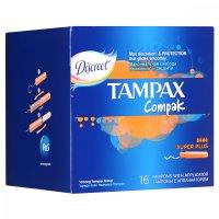 Тампоны гигиенические TAMPAX Compak Super Plus №16 с апплик.