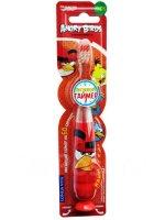 Зубная щетка детская LONGA VITA Angry Birds мигающая на присос. (с 3 лет)