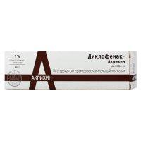 Диклофенак-Акрихин туба(гель д/наружн. прим.) 1% 40г №1
