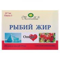 """Рыбий жир """"Миролла"""" с маслом шиповника"""