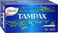 Тампоны гигиенические TAMPAX Super №16 с апплик.