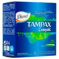 Тампоны гигиенические TAMPAX Compak Super №8 с апплик.