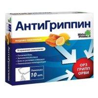 Антигриппин пак.(пор. д/приг. р-ра д/приема внутрь) №10 (медово-лимонный)
