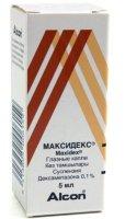 Максидекс фл.-кап.(капли глазн.) 0,1% 5мл