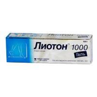 Лиотон 1000 туба(гель д/наружн. прим.) 1000ЕД/г 50г №1