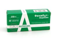 Фенибут-Акрихин таб. 250мг №20