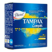 Тампоны гигиенические TAMPAX Compak Regular №8 с апплик.