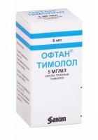 Офтан Тимолол фл.-кап.(капли глазн.) 0,5% 5мл