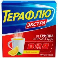 ТераФлю от гриппа и простуды Экстра пак.(пор. д/р-ра орал.) №10 (лимон)