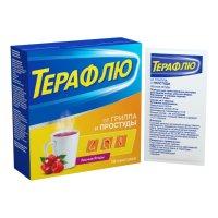 ТераФлю от гриппа и простуды пак.(пор. д/р-ра орал.) №10 (лесные ягоды)