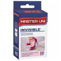 Лейкопластырь бактерицидный MASTER UNI Invisible №20 (полим. основа прозрач.)