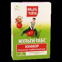 Мульти-табс Юниор таб. жев. №30 (малиново-клубн. вкус)