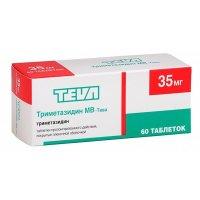 Триметазидин-Тева таб. п/пл. об. 35мг №60