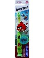 Зубная щетка детская LONGA VITA Angry Birds защит. колпач. присоска 5-10лет (арт. АВ-1)
