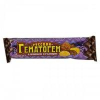 Гематоген русский плитка 40г (изюм в шоколадной глазури)