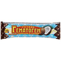 Гематоген русский плитка 40г (кокос в шоколадной глазури)