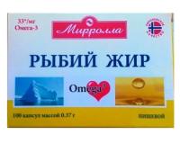 """Рыбий жир """"Миролла"""" пищевой капс. №100"""