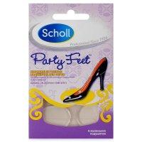 Подушечки SCHOLL Party Feet невидимые гелевые ослабляющие дискомфорт д/обуви