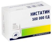 Нистатин таб. п/пл. об. 500000ЕД №100
