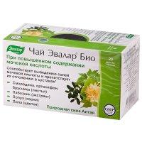 Чай лечебный ЭВАЛАР БИО при повыш. содержании мочевой кислоты пак.-фильтр 1,5г №20