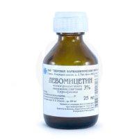 Левомицетин фл.(р-р спирт. наружн.) 3% 25мл