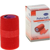 Бинт PEHA-HAFT Latexfree фикс. когезив. 4м х 8см (красный)