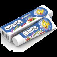 Зубная паста детская КУСАЛОЧКА Клубника (3-8лет) 50мл