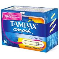 Тампоны гигиенические TAMPAX Compak Regular №16 с апплик.