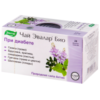 Чай лечебный ЭВАЛАР БИО При диабете пак.-фильтр 2г №20
