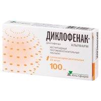 Диклофенак-Альтфарм супп. рект. 100мг №10
