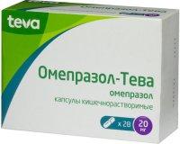 Омепразол-Тева капс. кишечнораств. 20мг №28