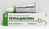 Тетрациклин туба(мазь глазн.) 1% 3г №1