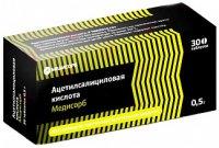 Ацетилсалициловая кислота Медисорб таб. 500мг №30 уп.конт.яч. - пач.карт.