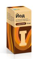 Йода раствор спиртовой фл.(р-р спирт.) 5% 10мл (фл. с лопаткой)