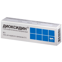 Диоксидин мазь 5% 30г