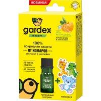 Гардекс Беби Природная защита от комаров экстракт и наклейки фл. 4мл